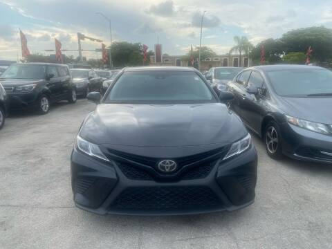2018 Toyota Camry for sale at America Auto Wholesale Inc in Miami FL