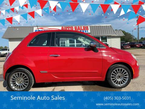 2012 FIAT 500 for sale at Seminole Auto Sales in Seminole OK
