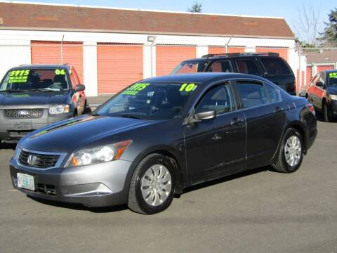 2010 Honda Accord for sale at ARISTA CAR COMPANY LLC in Portland OR