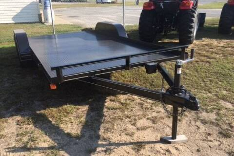 "2021 NEW P & T 82"" x 18'  Car Hauler for sale at Sanders Motor Company in Goldsboro NC"
