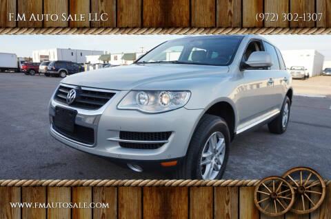 2010 Volkswagen Touareg for sale at F.M Auto Sale LLC in Dallas TX