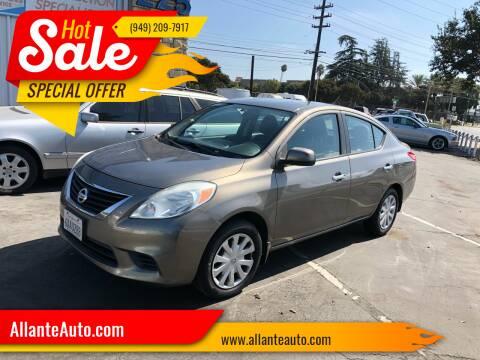 2012 Nissan Versa for sale at AllanteAuto.com in Santa Ana CA
