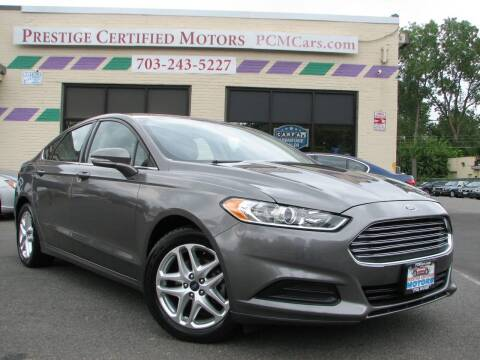 2013 Ford Fusion for sale at Prestige Certified Motors in Falls Church VA
