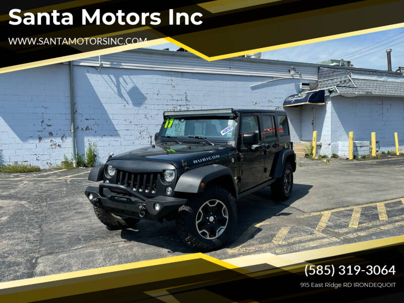 2017 Jeep Wrangler Unlimited for sale at Santa Motors Inc in Rochester NY