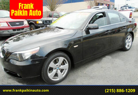 2007 BMW 5 Series for sale at Frank Paikin Auto in Glenside PA