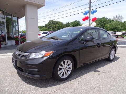 2012 Honda Civic for sale at KING RICHARDS AUTO CENTER in East Providence RI