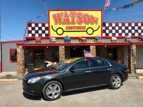 2012 Chevrolet Malibu for sale at Watson Motors in Poteau OK