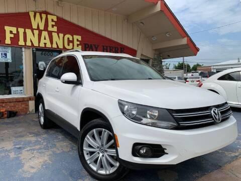 2012 Volkswagen Tiguan for sale at Caspian Auto Sales in Oklahoma City OK