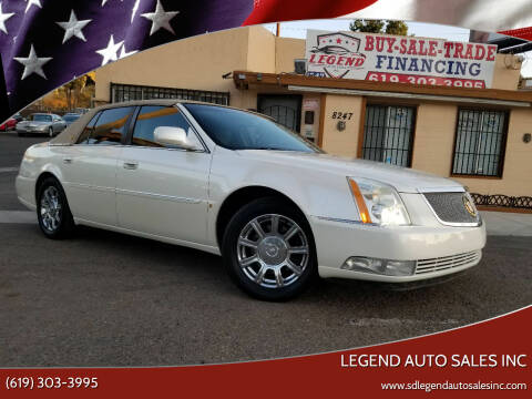 2009 Cadillac DTS for sale at Legend Auto Sales Inc in Lemon Grove CA