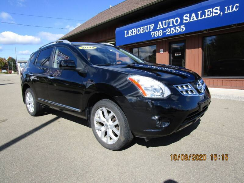2012 Nissan Rogue for sale at LeBoeuf Auto Sales in Waterford PA