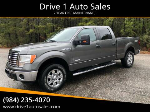 2012 Ford F-150 for sale at Drive 1 Auto Sales in Wake Forest NC