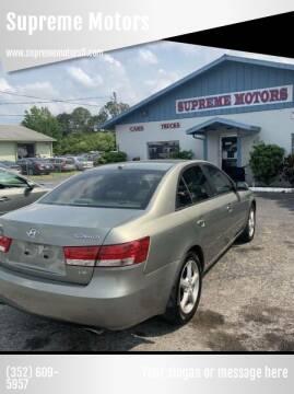 2008 Hyundai Sonata for sale at Supreme Motors in Tavares FL