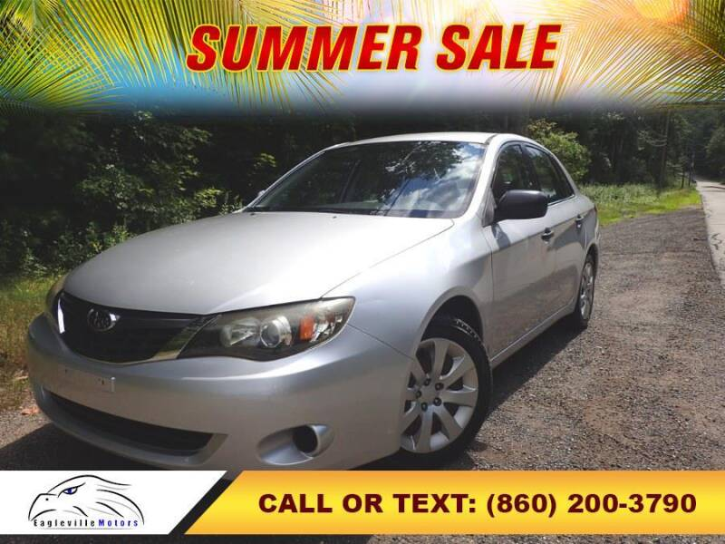 2008 Subaru Impreza for sale at EAGLEVILLE MOTORS LLC in Storrs Mansfield CT