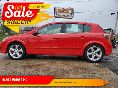 2008 Saturn Astra for sale at BABO'S MOTORS INC in Johnstown PA