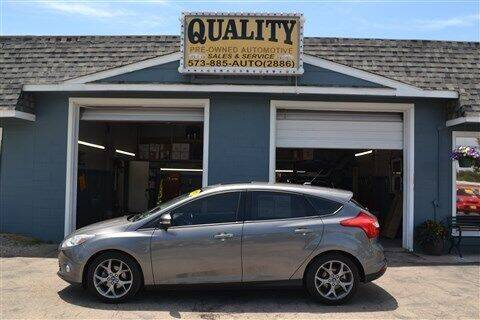 2013 Ford Focus for sale at Quality Pre-Owned Automotive in Cuba MO