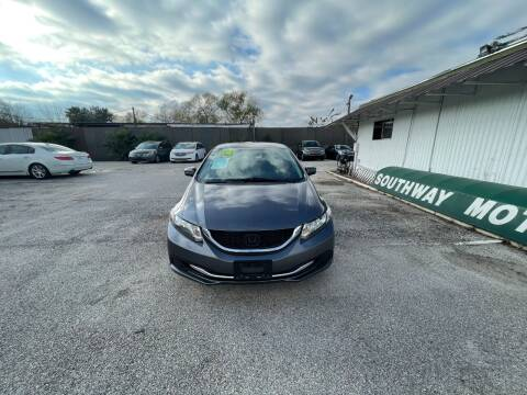 2014 Honda Civic for sale at SOUTHWAY MOTORS in Houston TX