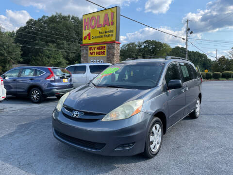 2006 Toyota Sienna for sale at No Full Coverage Auto Sales in Austell GA