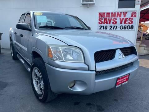 2007 Mitsubishi Raider for sale at Manny G Motors in San Antonio TX