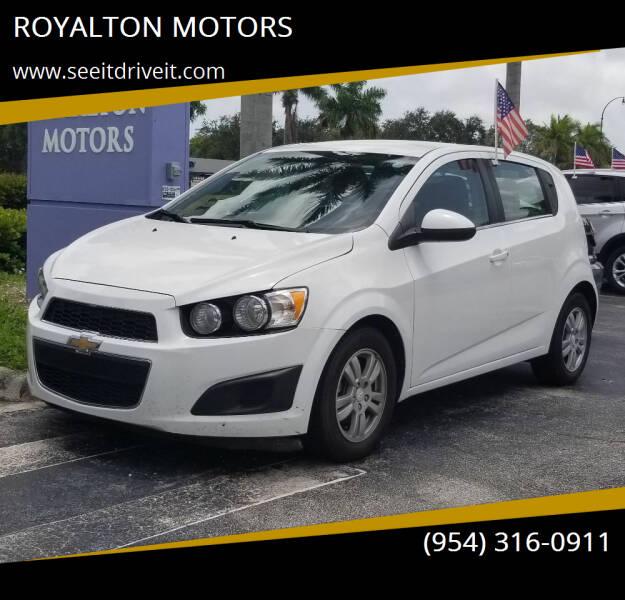 2016 Chevrolet Sonic for sale at ROYALTON MOTORS in Plantation FL