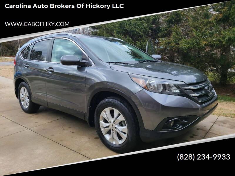 2013 Honda CR-V for sale at Carolina Auto Brokers of Hickory LLC in Newton NC
