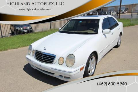 2001 Mercedes-Benz E-Class for sale at Highland Autoplex, LLC in Dallas TX
