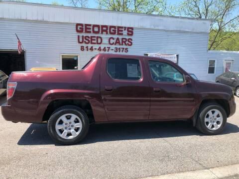 2007 Honda Ridgeline for sale at George's Used Cars Inc in Orbisonia PA
