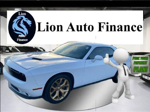 2015 Dodge Challenger for sale at Lion Auto Finance in Houston TX