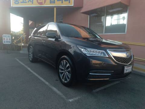 2016 Acura MDX for sale at Western Motors Inc in Los Angeles CA
