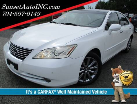 2008 Lexus ES 350 for sale at Sunset Auto in Charlotte NC