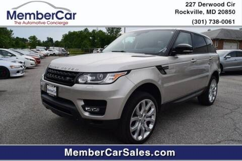 2015 Land Rover Range Rover Sport for sale at MemberCar in Rockville MD