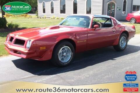 1976 Pontiac Firebird for sale at ROUTE 36 MOTORCARS in Dublin OH