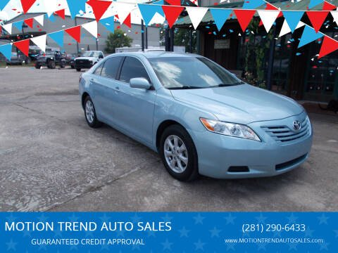 2009 Toyota Camry for sale at MOTION TREND AUTO SALES in Tomball TX