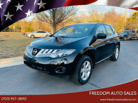 2009 Nissan Murano for sale at Freedom Auto Sales in Chantilly VA