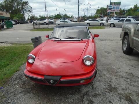 1984 Alfa Romeo Spider for sale at SCOTT HARRISON MOTOR CO in Houston TX