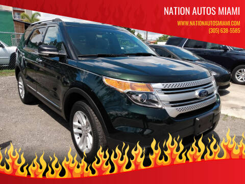 2013 Ford Explorer for sale at Nation Autos Miami in Hialeah FL