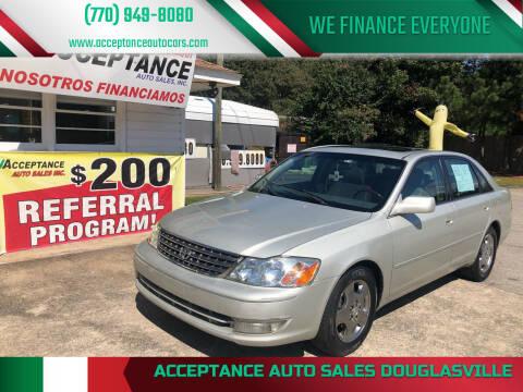 2003 Toyota Avalon for sale at Acceptance Auto Sales Douglasville in Douglasville GA