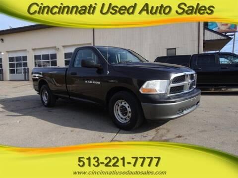 2011 RAM Ram Pickup 1500 for sale at Cincinnati Used Auto Sales in Cincinnati OH