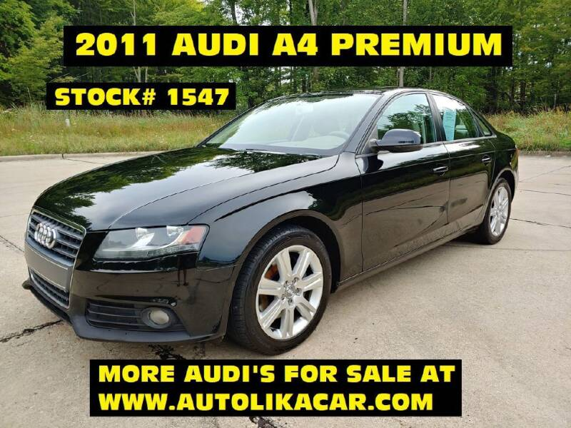 2011 Audi A4 for sale at Autolika Cars LLC in North Royalton OH