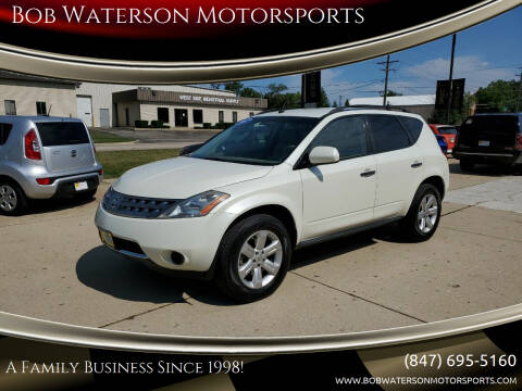 2007 Nissan Murano for sale at Bob Waterson Motorsports in South Elgin IL