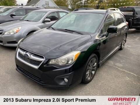 2013 Subaru Impreza for sale at Warren Auto Sales in Oxford NY