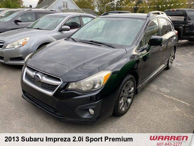 2013 Subaru Impreza for sale at Warren Auto Sales in Oxford NY