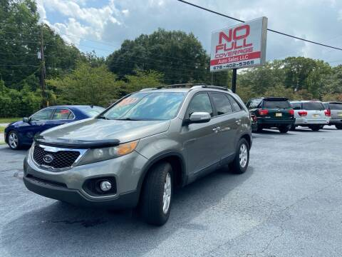2012 Kia Sorento for sale at No Full Coverage Auto Sales in Austell GA