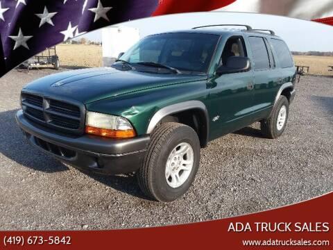 2002 Dodge Durango for sale at Ada Truck Sales in Ada OH