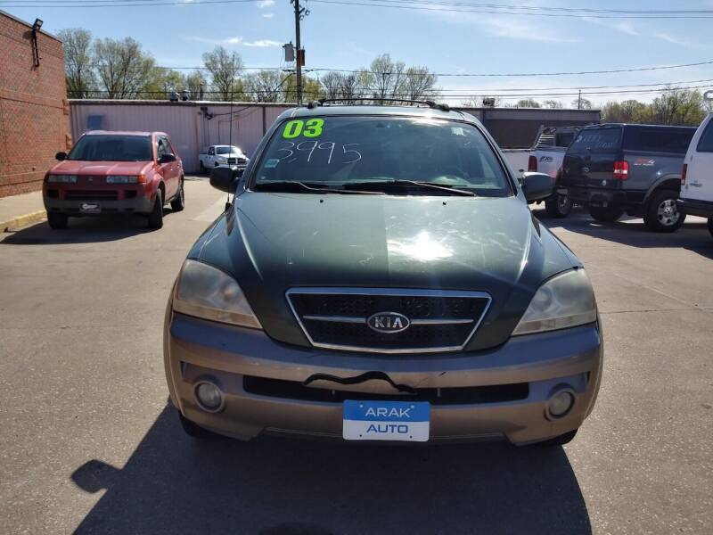 2003 Kia Sorento for sale at Arak Auto Group in Bourbonnais IL