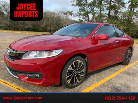 2017 Honda Accord for sale at JAYCEE IMPORTS in Houston TX