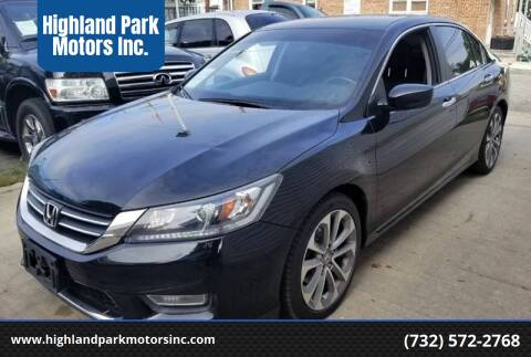2013 Honda Accord for sale at Highland Park Motors Inc. in Highland Park NJ