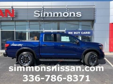 2021 Nissan Titan for sale at SIMMONS NISSAN INC in Mount Airy NC