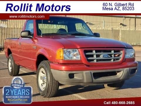 2003 Ford Ranger for sale at Rollit Motors in Mesa AZ