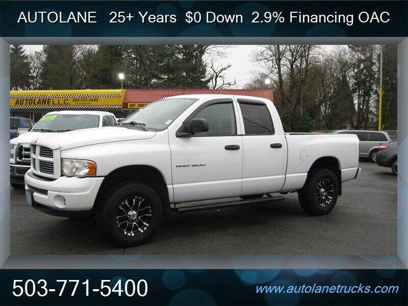 2003 Dodge Ram Pickup 1500 for sale at Auto Lane in Portland OR
