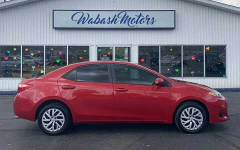 2017 Toyota Corolla for sale at Wabash Motors in Terre Haute IN